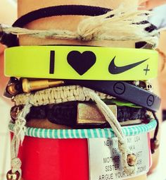 Do you heart Nike+ too? #armparty #nike