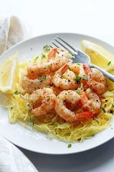 Light Shrimp Scampi with Spaghetti Squash | Grandbaby Cakes | Bloglovin'