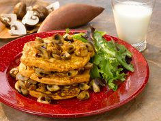 Sweet Potato Pancakes w/Maple Mushrooms : Fill Half Your Plate with Fruits & Veggies : Fruits And Veggies More Matters.org