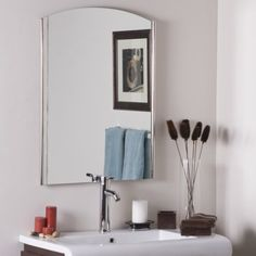Seasons Frameless Wall Mirror Crafted of thick, strong 3/16 glass and metal;. Double coated silver backing with seamed edges. Mounting hardware included, comes ready to hang  vertically only.. Great for Bathrooms, Hallway, Living Room or Bedroom. Care instructions: Wipe clean with a damp cloth. Use only water or window-cleaner. Wipe clean with a damp cloth. Use only water or window-cleaner. Wipe d... #FramelessVistaWallMirror #Home