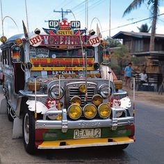 The Jeepney. You haven't experienced the Philippines until you ride one of these. The fancier they are, the better the sound system. My only mode of transport from high school through college.