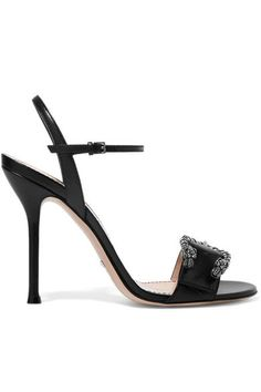 Gucci - Dionysus Leather Sandals - Black - IT34.5