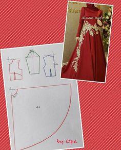 55 Ideas for dress diy patron robe Skirt Patterns Sewing, Clothing Patterns, Abaya Pattern, Moslem Fashion, Fashion Pattern, Lesage, Pattern Drafting, Diy Dress, Dress Skirt