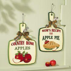Vintage Look Apple Pie Kitchen Wall Decor Set Pie Kitchen, Apple Kitchen Decor, Rooster Kitchen Decor, Chef Kitchen Decor, Kitchen Decor Themes, Farmhouse Kitchen Decor, Kitchen Ideas, Apple Decorations For Kitchen, Kitchen Tips