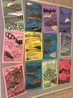 Art at Becker Middle School: 7th grade zentangle landscapes