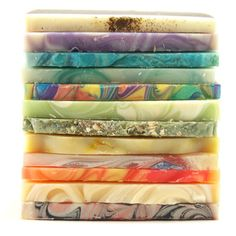I love the end pieces all stacked up, variety and color! Would be a neat display if they were stacked up in a clean tall rectangle vase