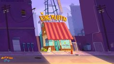 Anthony VIVIEN Game Background Art, Cartoon Background, Animation Background, Cafe Concept, Game Concept Art, Background Designer, Illustrations, Illustration Art, Cartoon Building