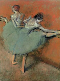 Dancers at the Barre by Edgar Degas, ca. 1900, oil on canvas, 51 1/4 x 38 1/4. The Phillips Collection, Washington, D.C. artistdaily.com
