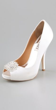 Badgley Mischka Lissa Satin Pumps  $245