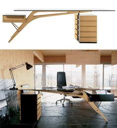 Escritorio Cavour | 10 escritorios de diseño • Cavour desk by Zanotta ♥