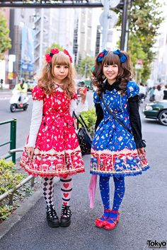 "Harajuku Lolitas in Angelic Pretty ""Star Night Theater"" Dresses"
