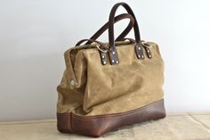 waxed canvas & leather bag