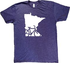 Screenprinted on American Apparel shirts. Designed and printed in Minnesota. Unisex sizes S-XXL. Click here for sizing chart. 50/50 ultra-soft cotton/poly blend; Heather Grey is super-soft tri-blend (