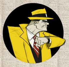 Dick Tracy by Sean D. Boyles for @Sketch_Dailies