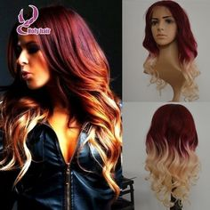 red&blonde human hair two tone wig   http://www.aliexpress.com/item/2015-Top-Quality-fashion-wavy-two-tone-glueless-full-lace-wig-ombre-color-red-blonde-human/32512314091.html?spm=0.0.0.0.rhl49f