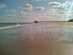 Tybee Island, Georgia.  Absolutely love this beach :)  Reminds me of my honeymoon