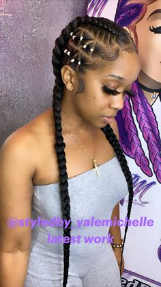 Big Box Braids Hairstyles, Hair Ponytail Styles, Braids Hairstyles Pictures, Black Girl Braided Hairstyles, African Braids Hairstyles, Baddie Hairstyles, Long Hair Styles, Natural Hair Styles, Black Women Hairstyles