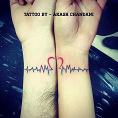 Couple tattoo designed with initials N and M ( highlighted) Tattoo work by Akash Chandani SKIN MACHINE TATTOO STUDIO . Bhopal . India  #peace #tattoosart #tattooedmen #tattoos #tattoo #tattooed #inkman #inked #ink #inklife #girltattoos #girlsWithTattoos #guyswithtattoos #guyswithink #couple #coupletattoos #heartbeat #heart #art