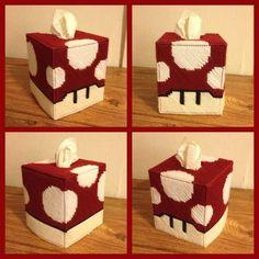The Handmade Super Mario Bros Inspired Tissue Boxes
