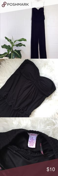 Tube Top Black Jumpsuit Beautiful black Jumpsuit. Very comfortable and gives a nice flow. Gently used. Candie's Pants Jumpsuits & Rompers