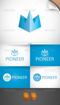 Pioneer Logo by isaacgrant ··CMYK ··Layered ··Text and colors fully editable ··Free font: http://www.fontsquirrel.com/fonts/Eau ··Any question or issue with