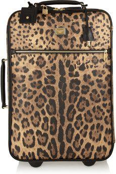Gypsy Travel Luggage  Serafini Amelia  Dolce & Gabbana Leopard-print faux leather travel trolley   NET-A-PORTER