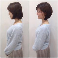Pin on ヘアカット Japanese Short Hair, Asian Short Hair, Short Hair Styles Easy, Haircut For Thick Hair, Short Hair With Bangs, Short Hair Cuts, Medium Hair Cuts, Medium Hair Styles, Short Stacked Hair