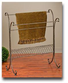 Free-Standing Towel / Quilt Metal Display Rack