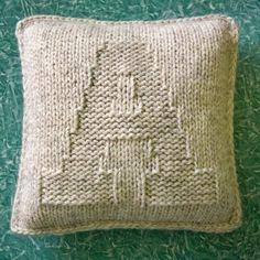 oreiller tricoter la lettre d'un super grand modèle