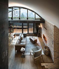 Großartige Penthousewohnung im Retro-Look in Sofia, Bulgarien