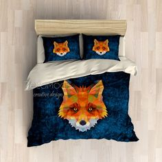 Fox Bedding, Animal Bedding Set, Duvet Cover Set, College Bedding, Teen Bedding, King, Queen, Twin, Full Bedding, Duvet Cover, Sheet Set by DecoModis on Etsy https://www.etsy.com/au/listing/484540945/fox-bedding-animal-bedding-set-duvet