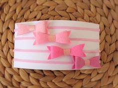 Headband Set - Pinks by UnderTheCherryTreeAU on Etsy
