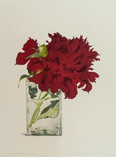 'Red Peony' by Susan Headley van Campen
