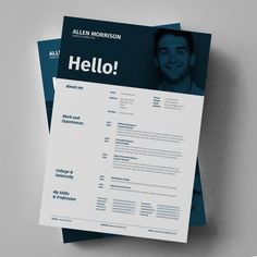 Buy Resume - CV and Portfolio by egotype on GraphicRiver. The Regulaar Resume template is an Indesign, Photoshop and Illustrator template for individuals working in creative f. Resume Design Template, Cv Template, Resume Templates, Templates Free, Resume Cv, Free Resume, Business Resume, Profolio Design, Design Ideas