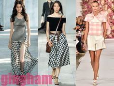 spring 2015 fashion trends | Gingham Best Spring 2015 Trends From New York Fashion Week