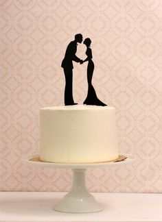 Silhouette Wedding Cake Topper  Silhouette by Silhouetteweddings, $40.00