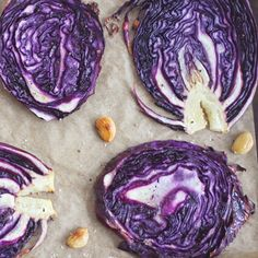 Roasted Cabbage - In the case of cabbage, roasting the rounds whole creates an end result so tender that you can even eat the core. The inner ribbons turn silky soft, while the very outer edges char slightly and taste similar to a kale chip, only a million times better. If you never thought cabbage could be addicting, try this and get back to me.