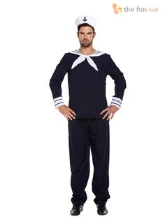 Mens Sailor Complete Outfit + Hat Navy Fancy Dress Officer Marine Seaman Costume  sc 1 st  Pinterest & Police Officer Costume | Cops u0026 Robbers Fancy Dress Ideas ...