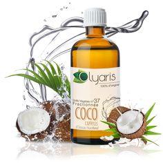 Ultra sèche, fluide et au toucher très fin, cette huile de coco est la parfaite alliée pour sublimer la peau et les cheveux. Fractionnée, elle est 100% d'origine végétale. Inodore, son absorption optimale en fait une huile de base idéale pour favoriser la pénétration des principes actifs de vos huiles essentielles préférées. #Olyaris #Aromatherapie #Peau #Cheveux #HuileDeCoco #Caprylis #naturelle #beaute #soin #seche #sec #HuilesEssentielles Coco Nucifera, Rides Front, Jojoba, Take Care Of Me, Whiskey Bottle, Wine, Amor, Afro Hair Care, Wash Hair