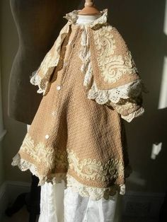children's shoes 1810 | Divine Antique Victorian Toddler's Embroidered Wool Cape Coat 1880s ...