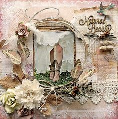 Blue Fern Design Team Layout By: Renea Harrison Created with the Autumn Anthology Paper line, Swirly Circle and Natural Beauty Chipboard, Imagine Ink Embossing Powders, and Essential Textures Stamp.