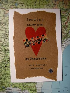 Graduation card with inspirational quote seezal long distance love christmas sending love across the miles christmas card long by artbyseezal m4hsunfo
