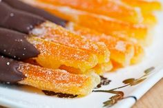 Candied orange peels are a treat on their own. But dipped in chocolate? Wow!