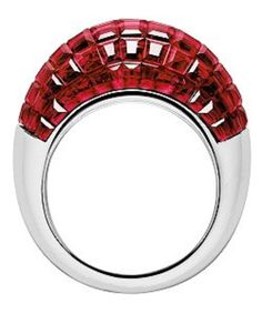 An Art Deco pavé-set ruby ring by Van Cleef Arpels, circa 1935.