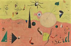 Joan Miró and Pablo Picasso at the National Gallery of Art, Washington D.C.