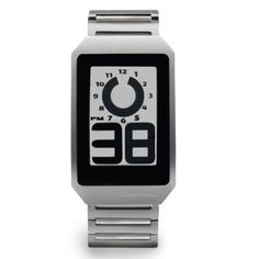This futuristic watch has revolutionary E-Ink electronic paper display with high contrast readability. This digital clock has a standard numeric digital display in on. Aftershave, Mens Watches Leather, Leather Men, Cool Watches, Watches For Men, Men's Watches, Electronic Paper, Jack Threads, Orange Leather
