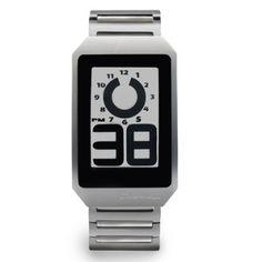 Reloj Phosphor E-Ink Digital Hour, Esfera con Tecnología de tinta electrónica y Correa de acero inoxidable.  http://www.tutunca.es/reloj-phosphor-e-ink-digital-acero