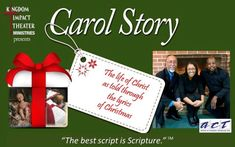 "A performance of lyrics that brings depth to tradition. "" Carol Story: The Life of Christ Through Poetry of Songs"" Life Of Christ, Worship Service, Yet To Come, The Life, Special Events, Theater, Acting, Lyrics, Poetry"