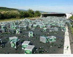 Crashed Beer Truck