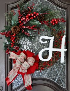 Christmas Wreath grapevine wreath with pine by GrapevineandBurlap